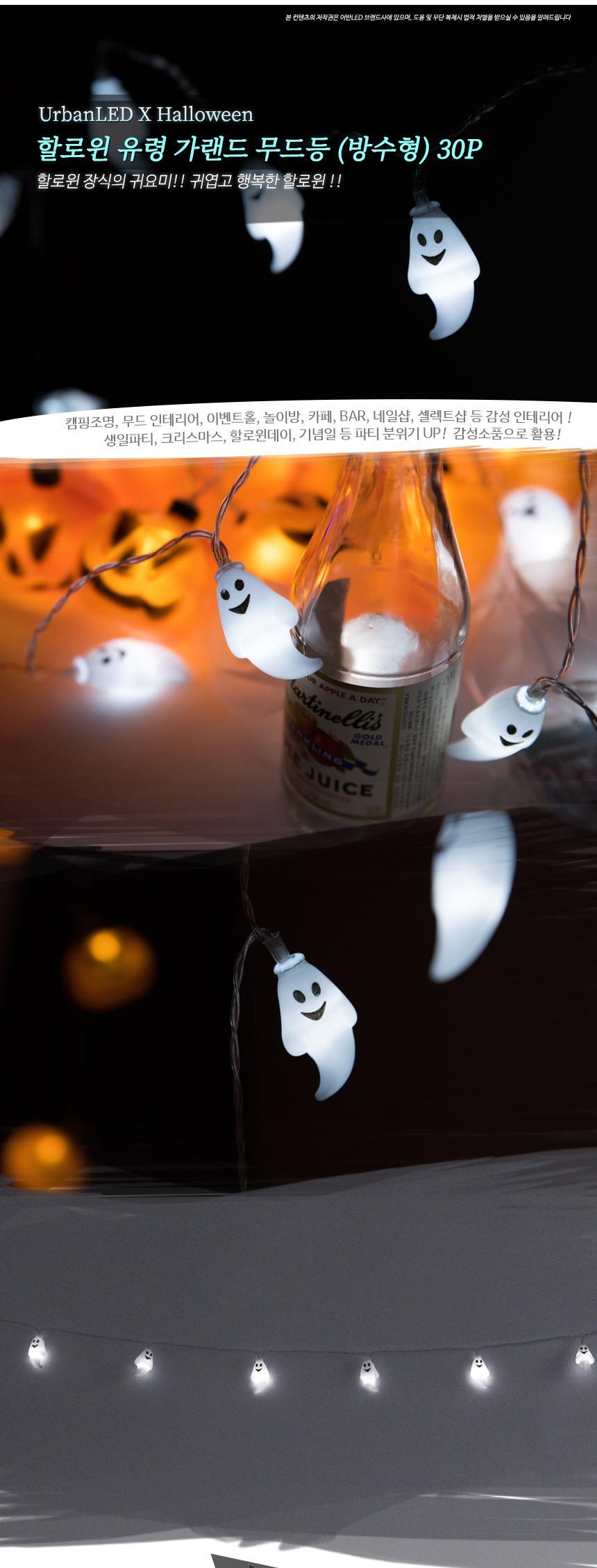 어반 LED 할로윈 장식 소품 조명 유령 가랜드 무드등 30P 방수형 - 어반LED, 15,500원, 파티용품, 할로윈 파티