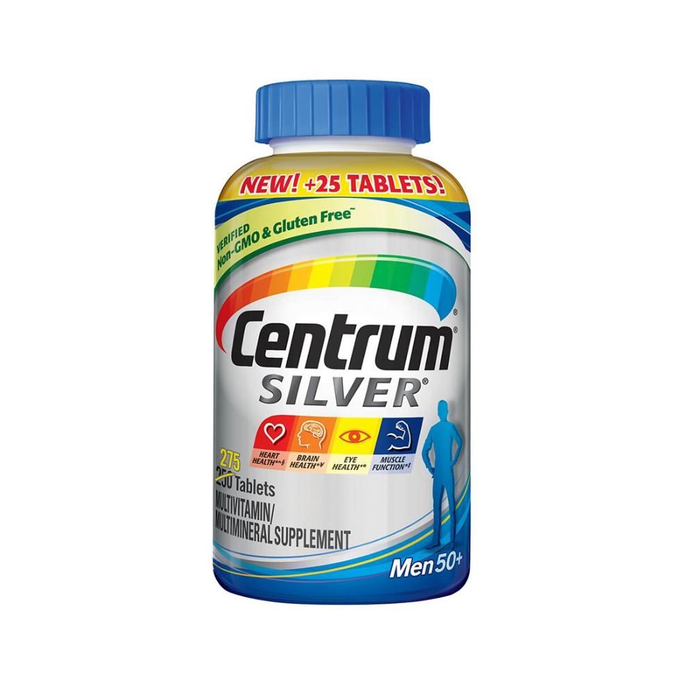 CENTRUM 센트룸 실버 남성 50플러스 멀티비타민 275캡슐