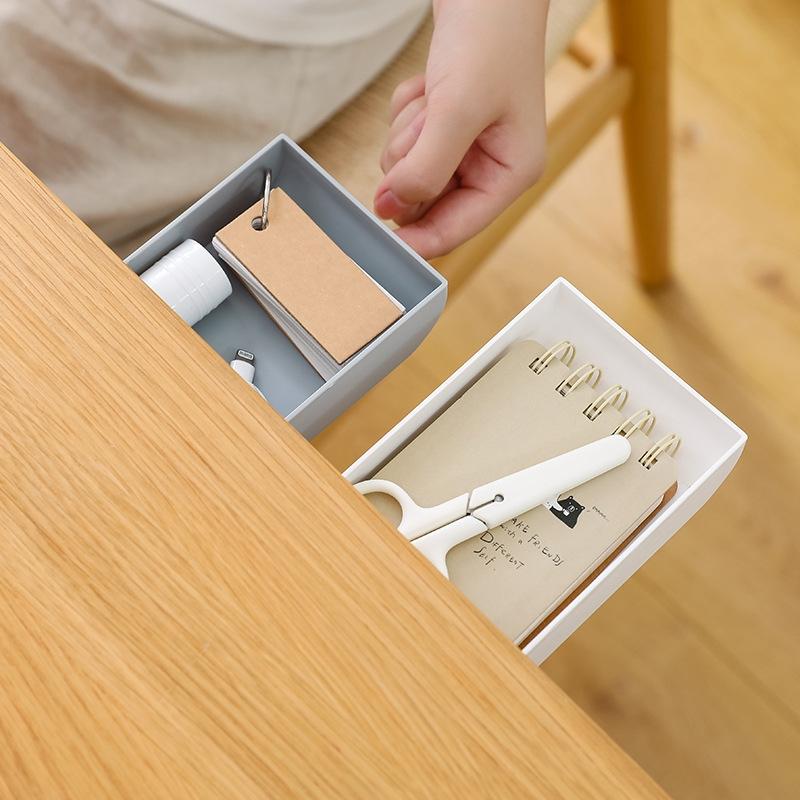 접착식 공간절약 책상서랍 S-35 서랍없는 테이블 부착용