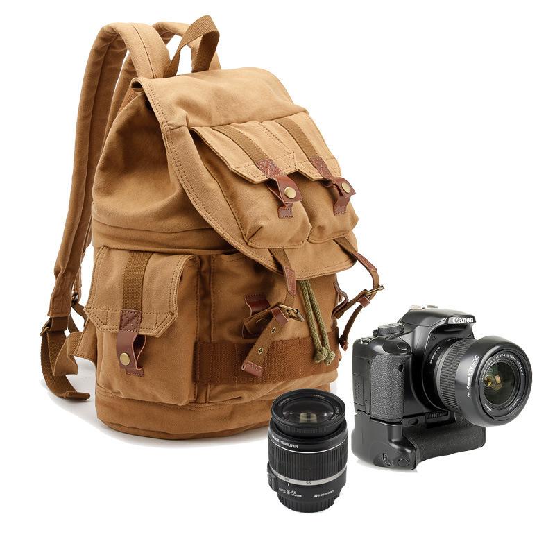 빈티지 클래식 캔버스 카메라백팩 BAGnBAGs FB-1233