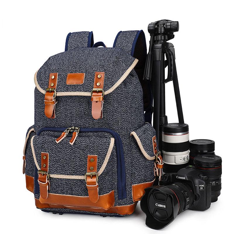캔버스 스타일 프리미엄 카메라 백팩 BAGnBAGs K-800