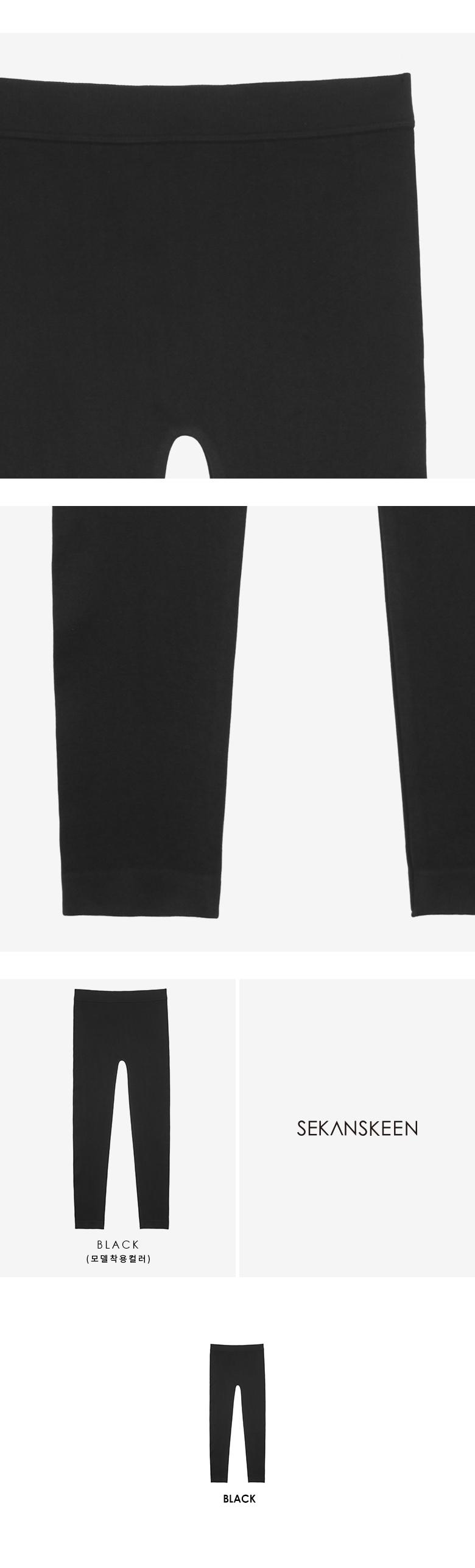 세컨스킨(SEKANSKEEN) [세트상품]new 에센셜 10부 레깅스 2종(BLACK+BLACK) KL1008