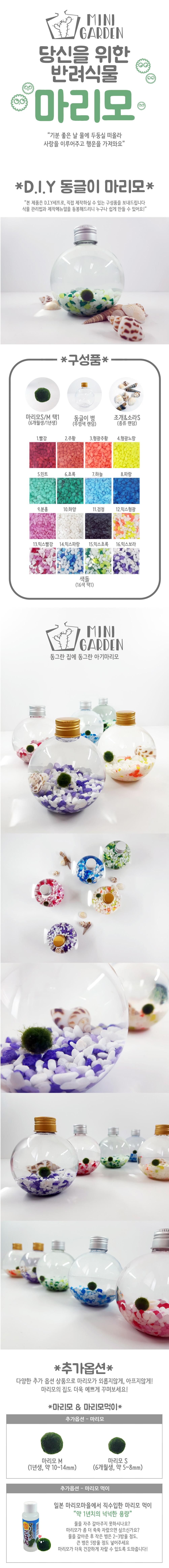 동글이 마리모 DIY 세트 - 미니가든, 8,900원, 키우기, 식물