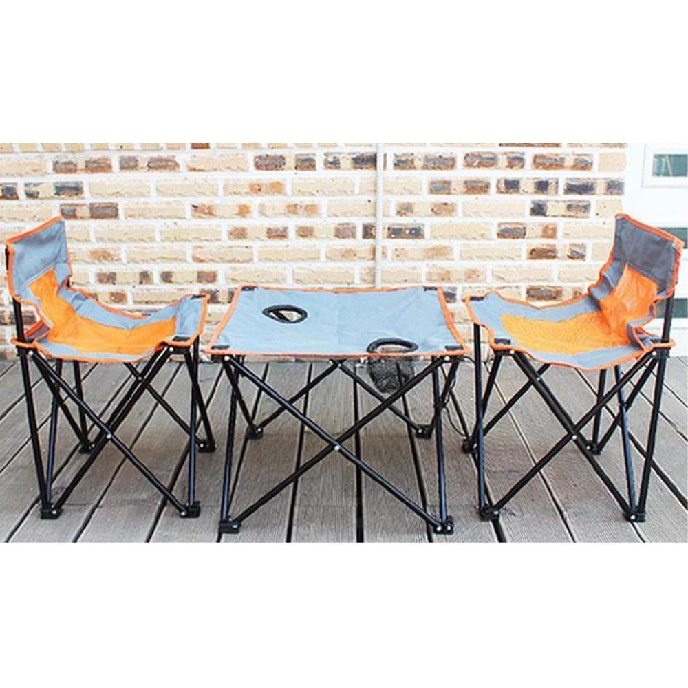 [현재분류명],캠핑의자 테이블 세트 접이식캠핑테이블 캠핑체어,K20013A,오렌지망사,의자,테이블,야외레저