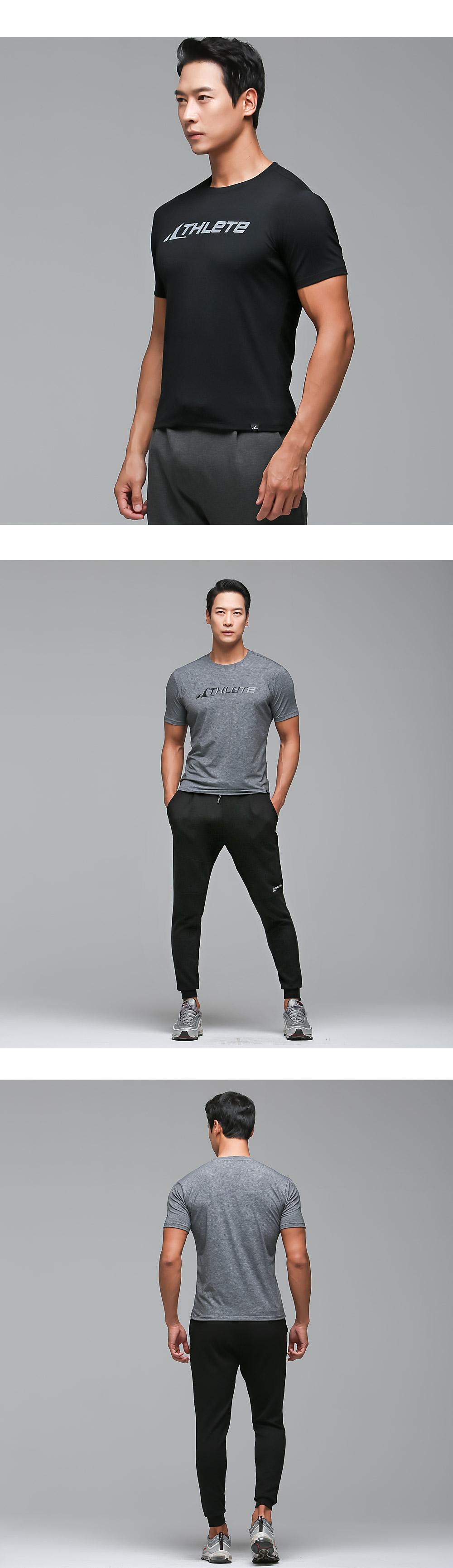 애슬리트(ATHLETE) 남성 고탄력 기능성 스포츠티 MDAT01 앤디 반팔 티셔츠