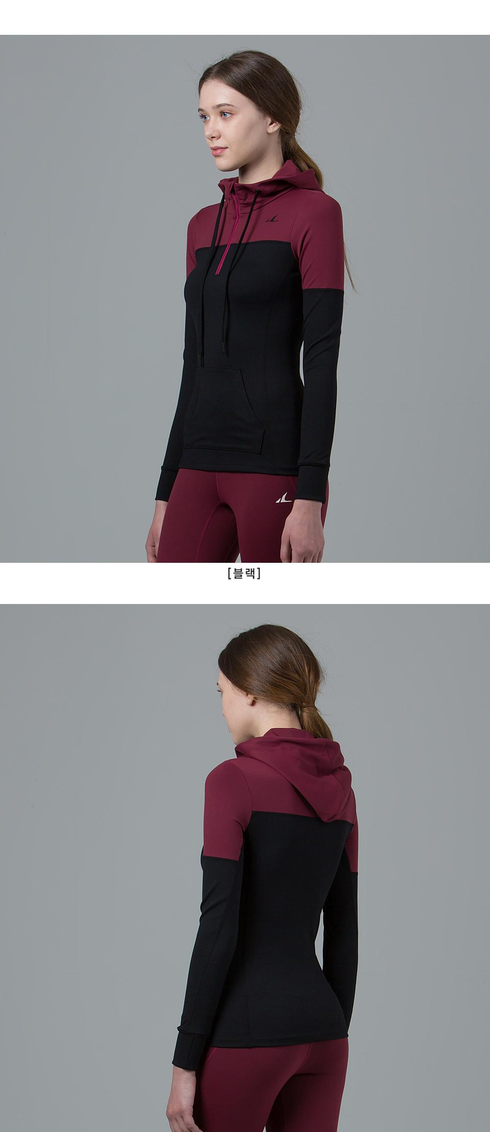 애슬리트(ATHLETE) 운동 데일리 모두 만족하는 ART02 마리하프 후드집업 티셔츠