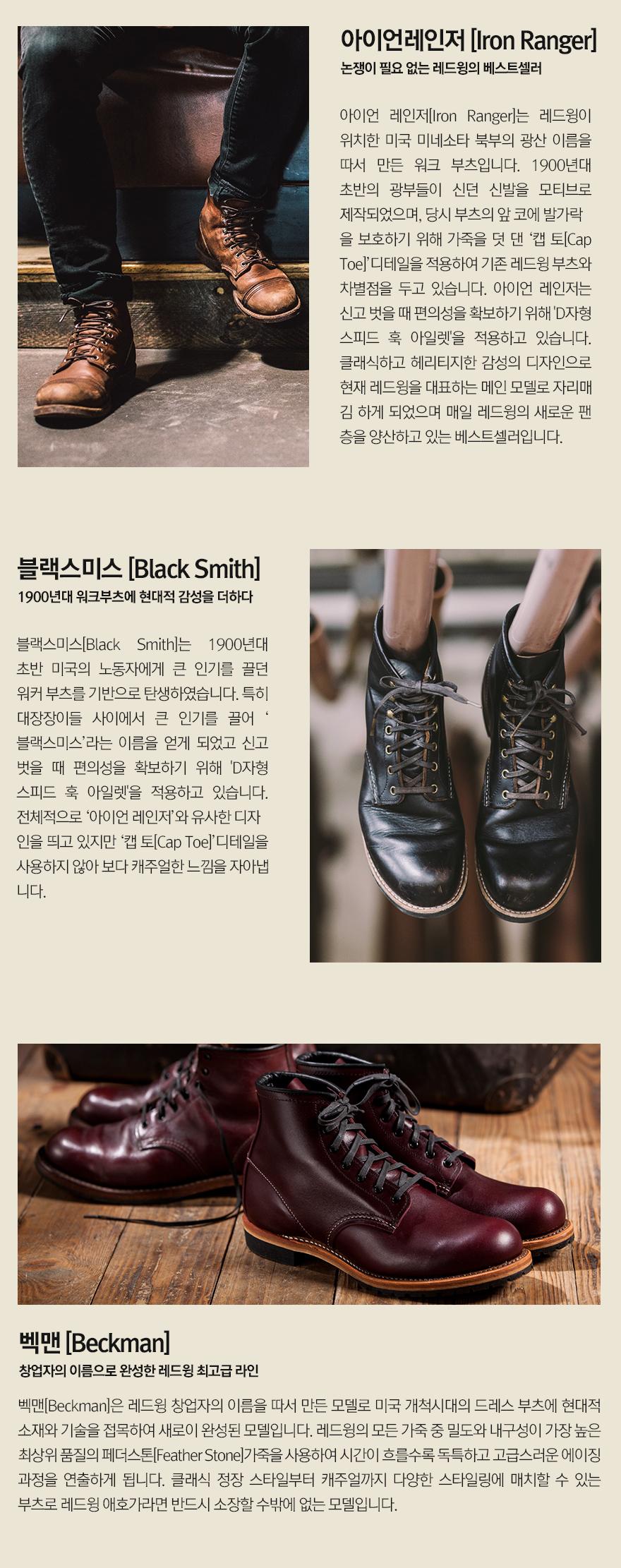 [레드윙] 여성용 6인치 라운드토 3450 - 블랙 바운더리