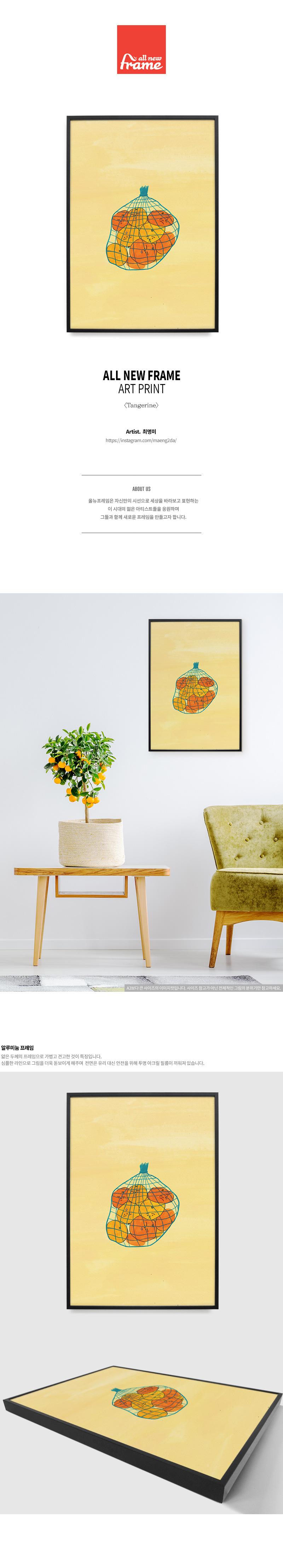 Tangerine- 일러스트 액자 - 올뉴프레임, 55,000원, 홈갤러리, 캔버스아트