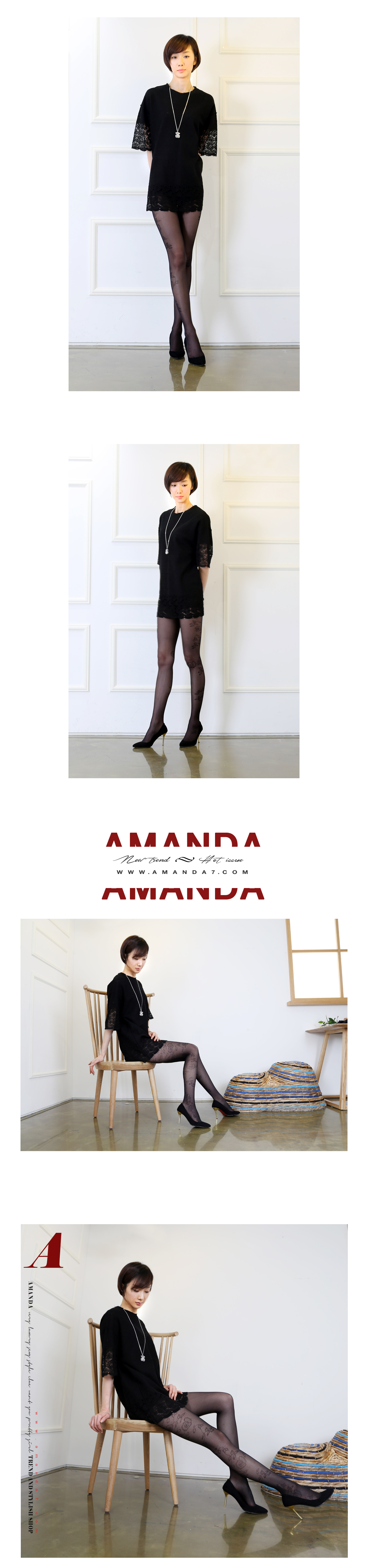 韩国正品薄款性感侧边玫瑰花纹显瘦透肉无缝丝袜连裤