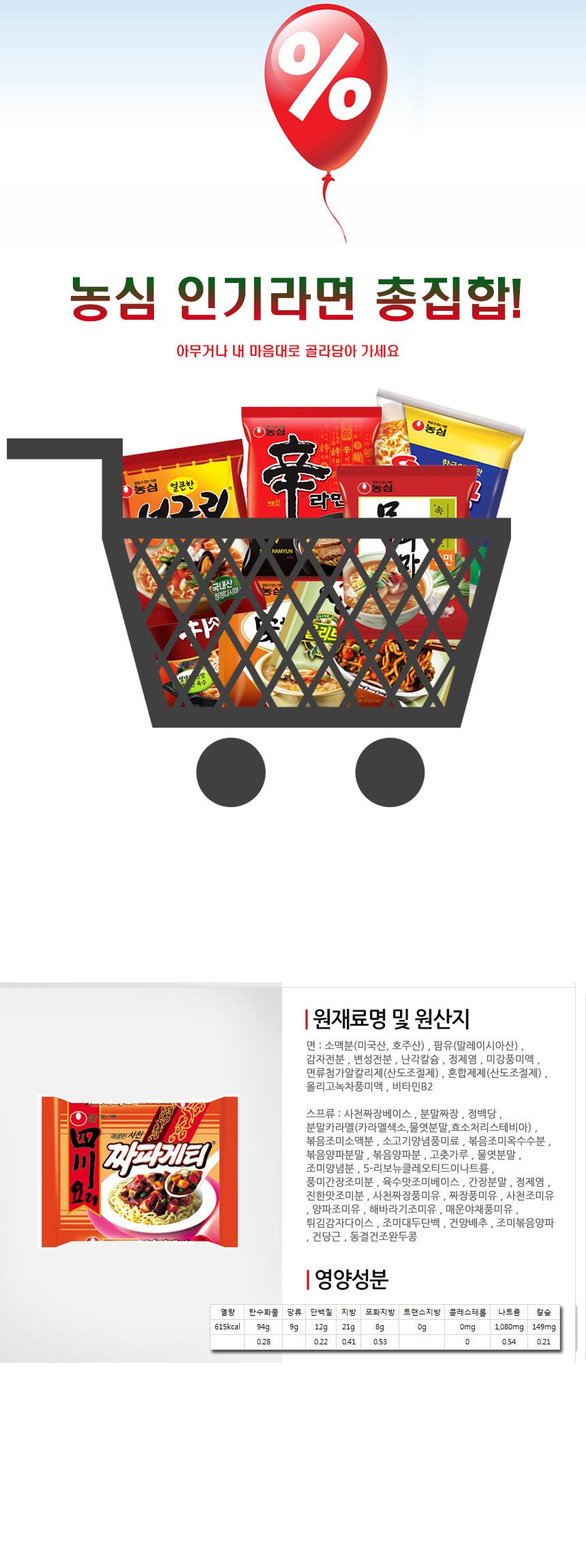 [ NongShim ] Sichuan DishChapagetti137g x 5P