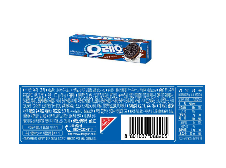 [ DongSuh ] [BOX][Dongsuh] OreoChocoCream(24Packs)