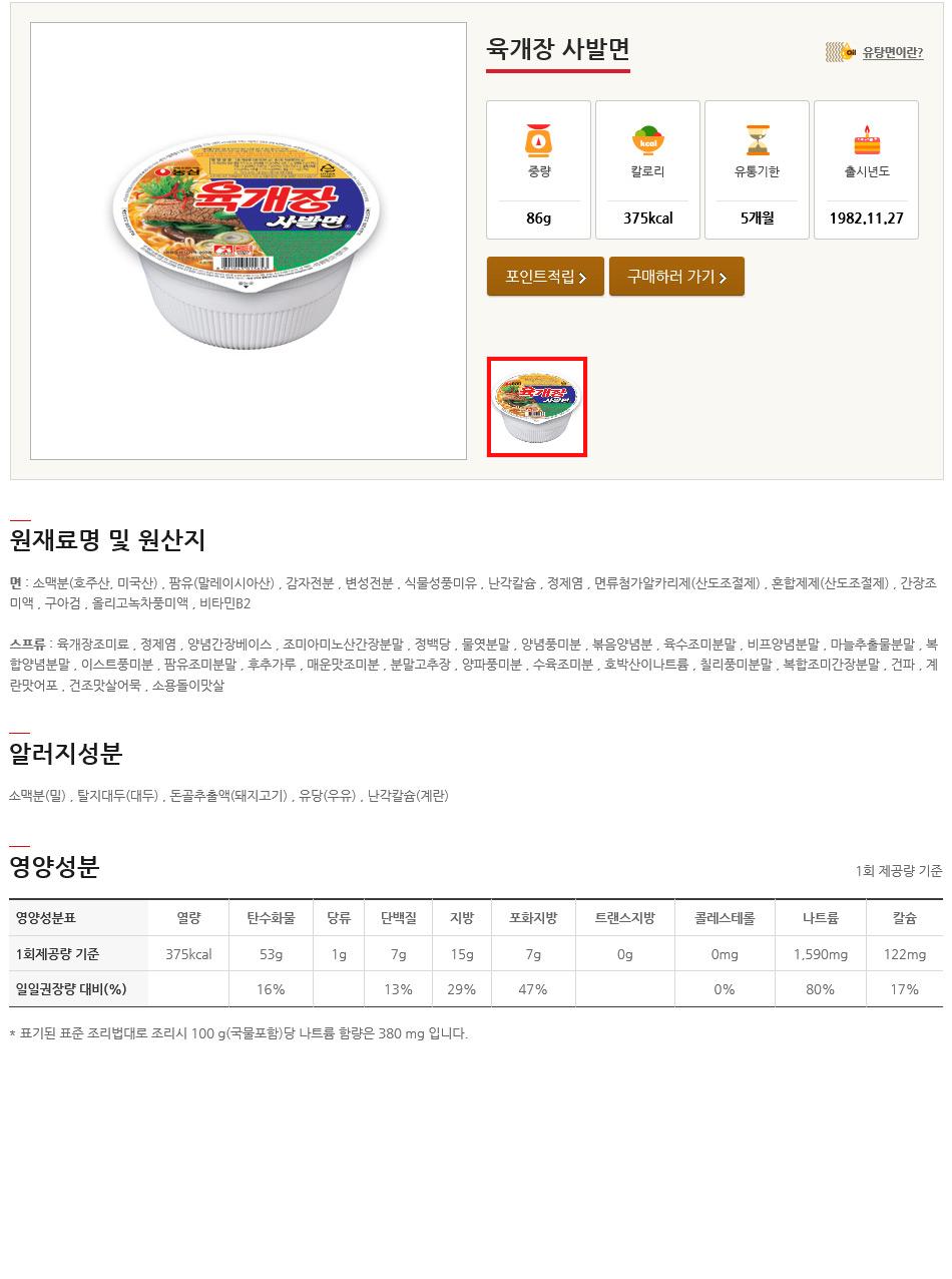 [ NongShim ] [BOX][Nongshim] Hot Spicy Meet Noodle Ramen 1BOX