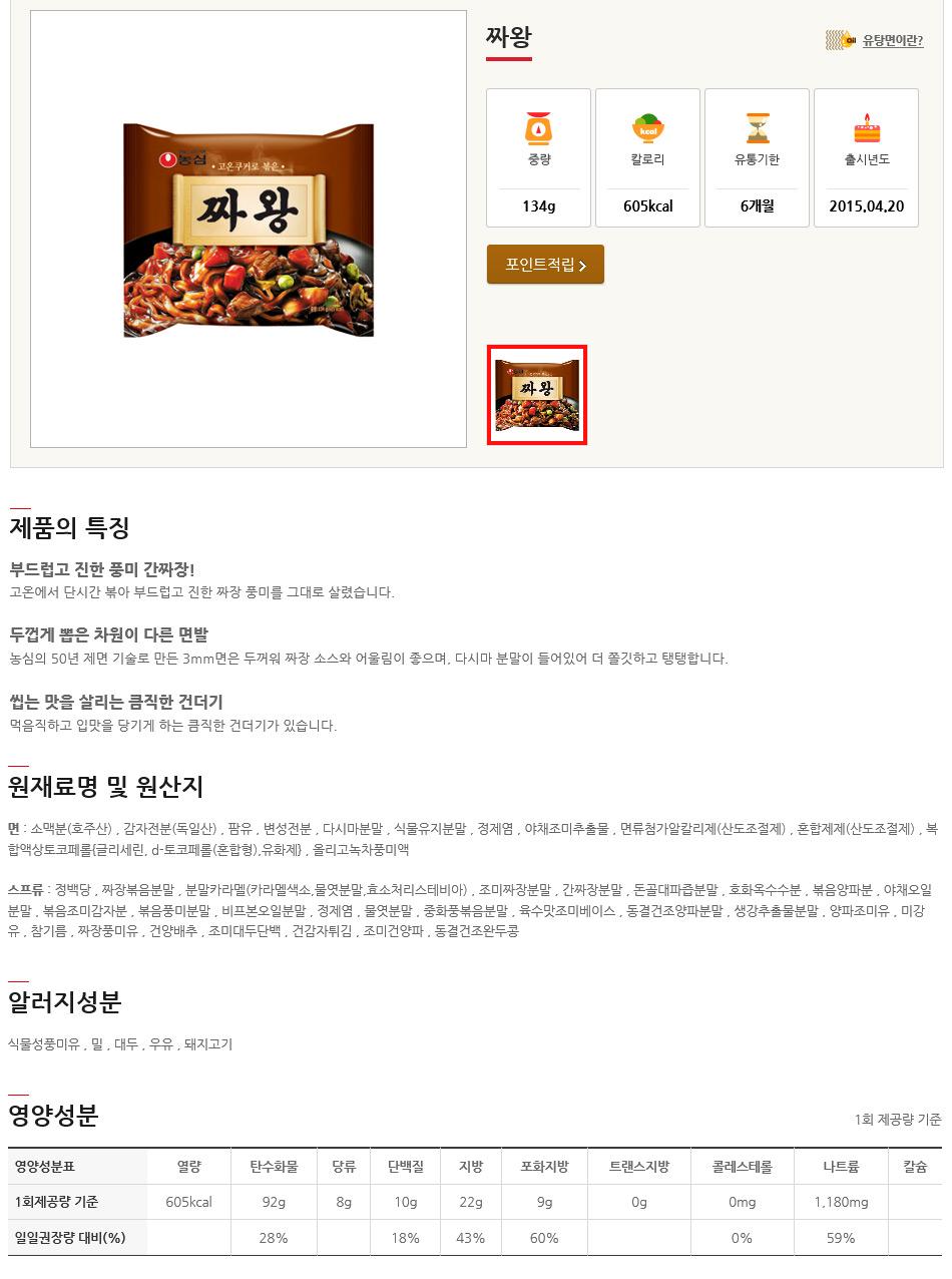 [ NongShim ] [BOX][Nongshim] Jja-Wang Noodle Ramen 1BOX (36pcs)