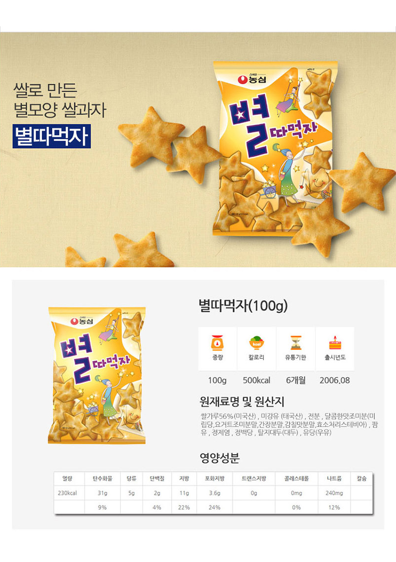 [ NongShim ] Eat the Star 45g x 10pc