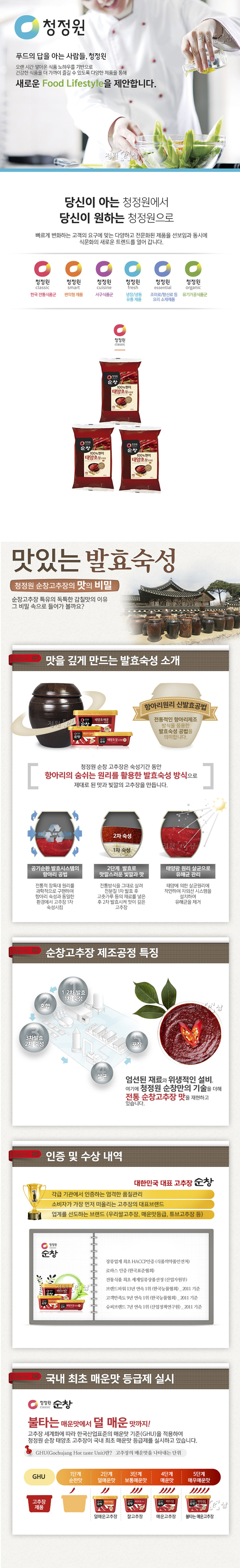 [ chungjungone ] GOCHUJANG MEDIUM HOT 500g X 3pcs
