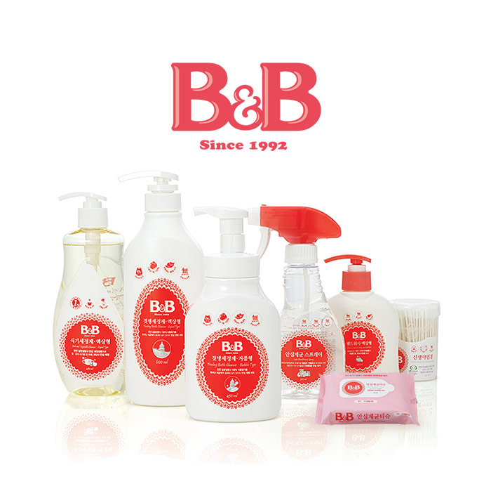 [ B&B ] NEW Feeding Bottle Cleanser 450ml (Bubble Type,Container)