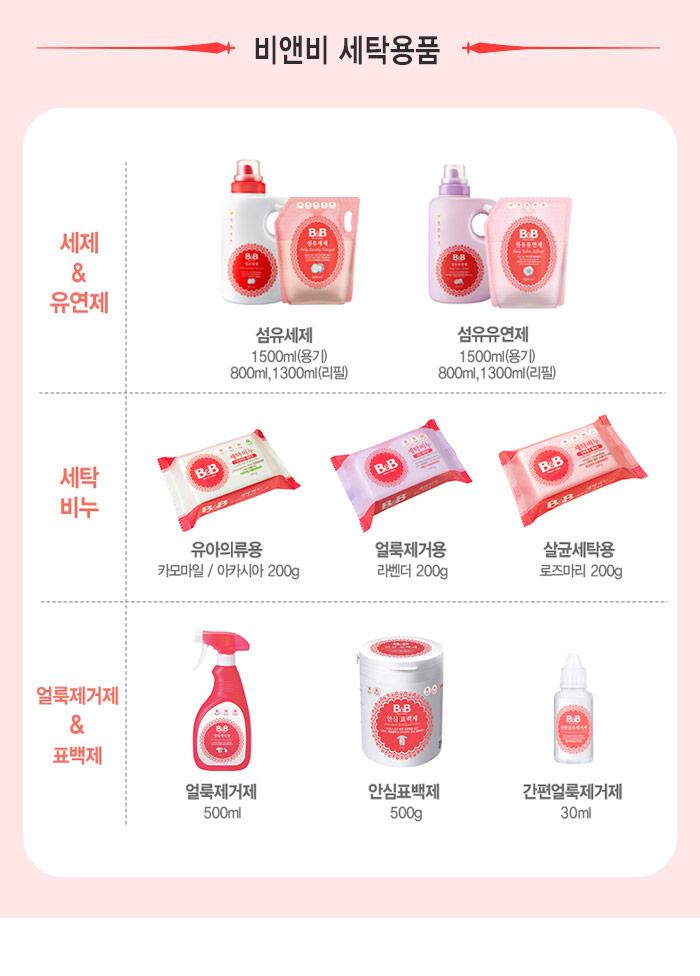 [ B&B ] NEW Baby Fabric Softener (Bergamot) 1500ml (Container)