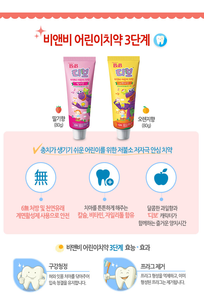 [ B&B ] NEW DIBO Toothpaste for children (orange) 80g