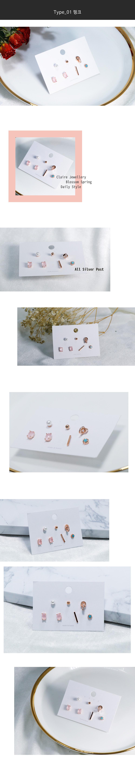 봄봄 데일리 은침 볼드귀걸이 7pcs 모음 - 클레어쥬얼리, 10,800원, 진주/원석, 볼귀걸이