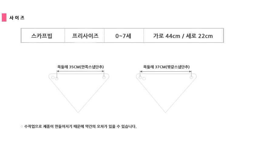 에이에프비 포인트양면 스카프빕 체크플라워 - 아바드, 3,900원, 액세서리, 스카프