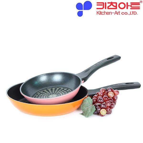 키친아트 AZ 다이아몬드코팅 후라이팬 2종(20CM+26CM)