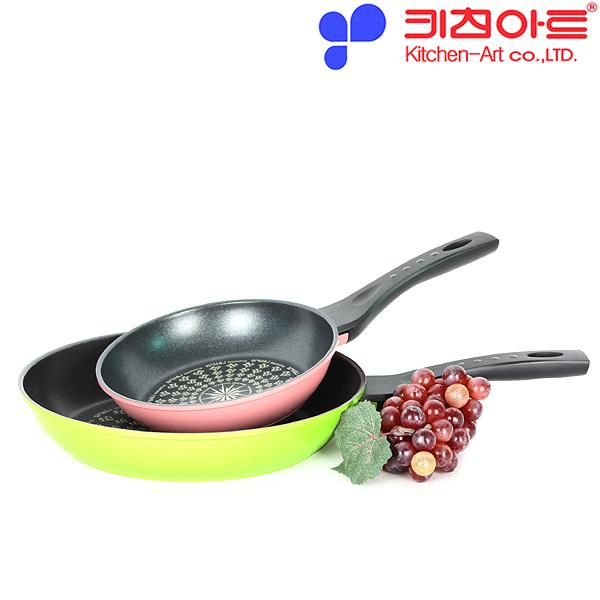 키친아트 AZ 다이아몬드코팅 후라이팬 2종(20CM+28CM)