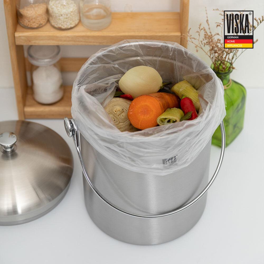 [독일 비스카] 스테인레스 스틸 음식물 쓰레기통 / VK-500L