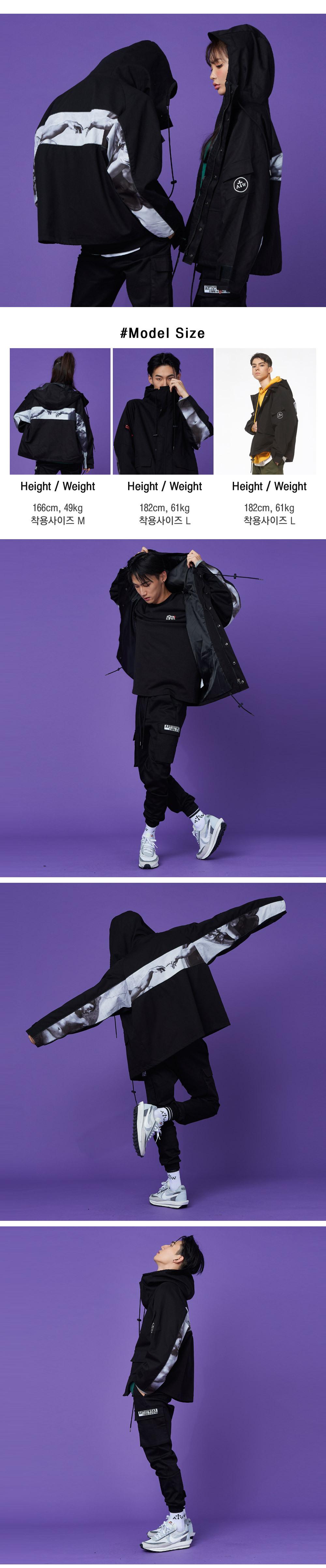 아티스트웨어(ARTISTWEAR) 양말 사은품[세트상품] 제네시스 필드 우븐 자켓 바람막이 + 패치 카고 조거팬츠