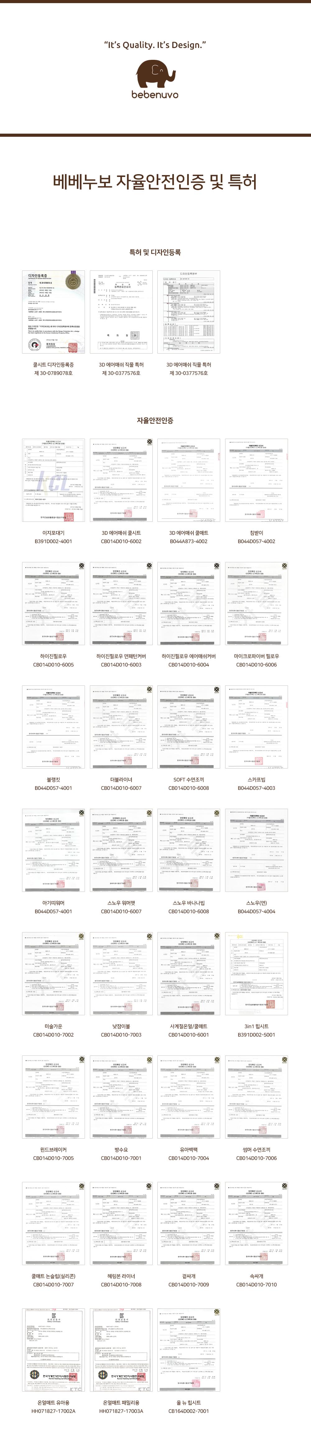 베베누보 특허 자율안전인증