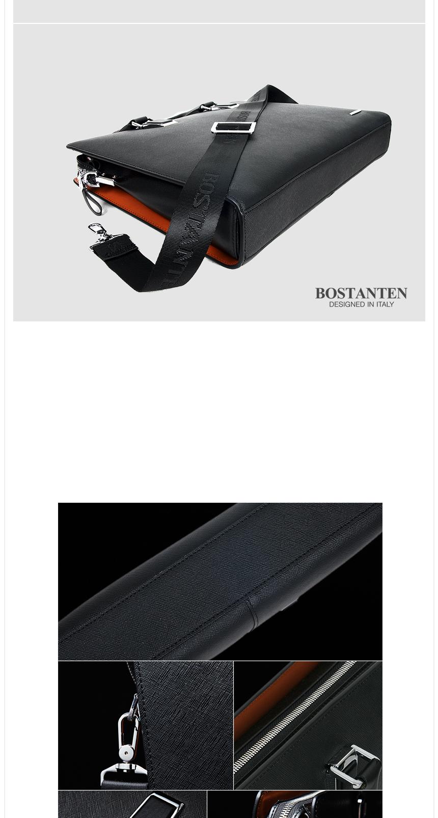 보스탄틴(BOSTANTEN) 천연소가죽 남성 서류가방 B12163