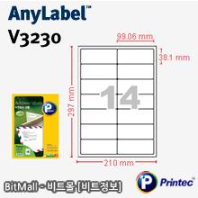 애니라벨 V3230 (14칸) [100매] -