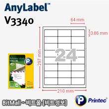 애니라벨 V3340 (24칸) [100매]
