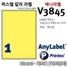 애니라벨 V3845 (파스텔칼라라벨 Y1칸) - 8805806038453