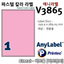 애니라벨 V3865 (파스텔칼라라벨 P1칸) - 8805806038651