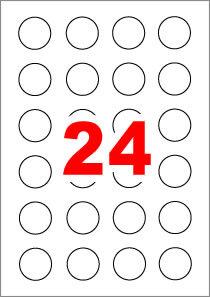 아이라벨 CL546 (원형 24칸) [100매/권] 지름38.1mm