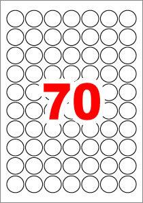 아이라벨 CL570 (원형 70칸) [100매/권] 지름25mm