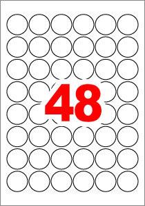 아이라벨 CL586 (원형 48칸) [100매/권] 지름30mm