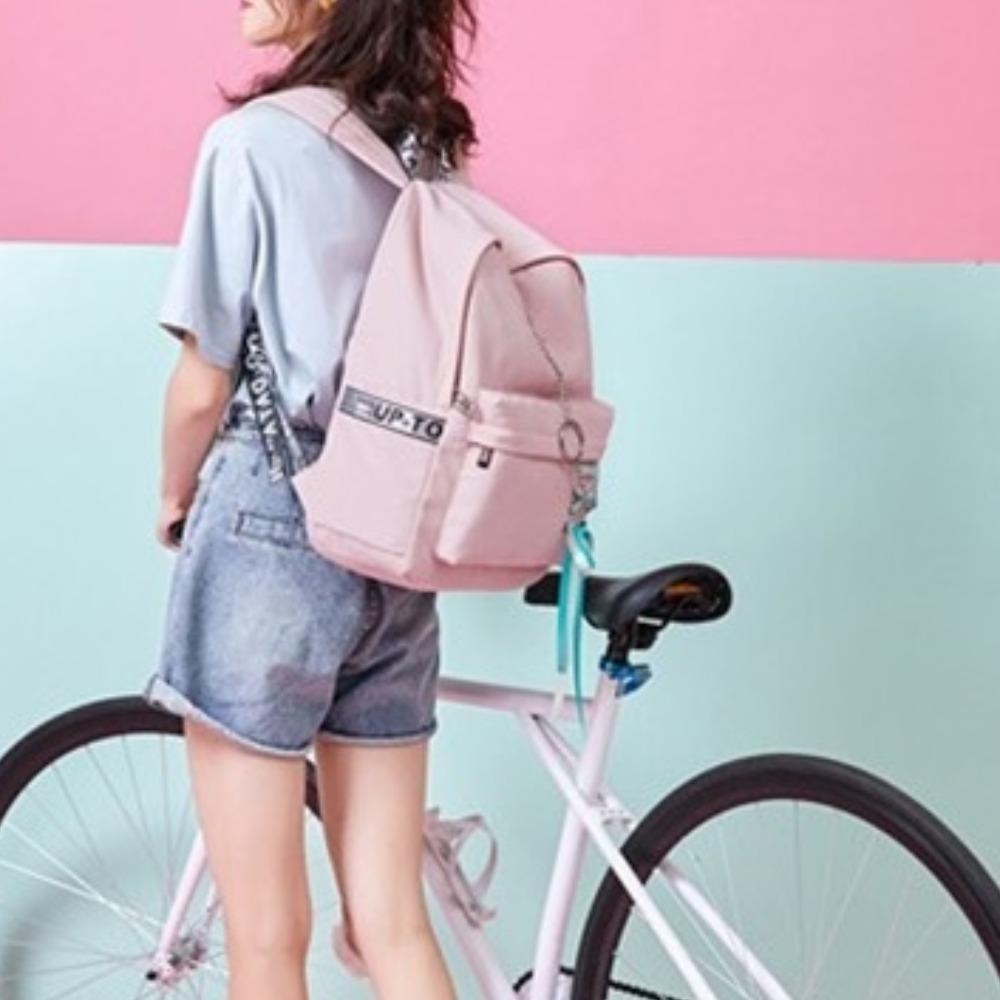 중학생가방 여학생백팩 핑크 백팩
