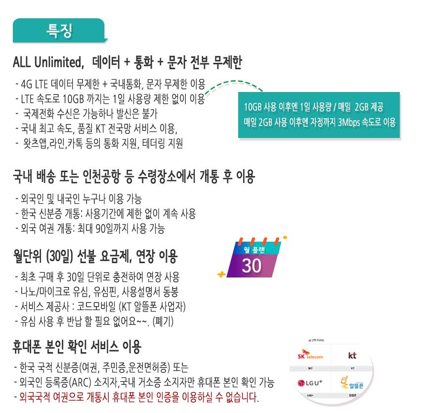 한국유심-특징