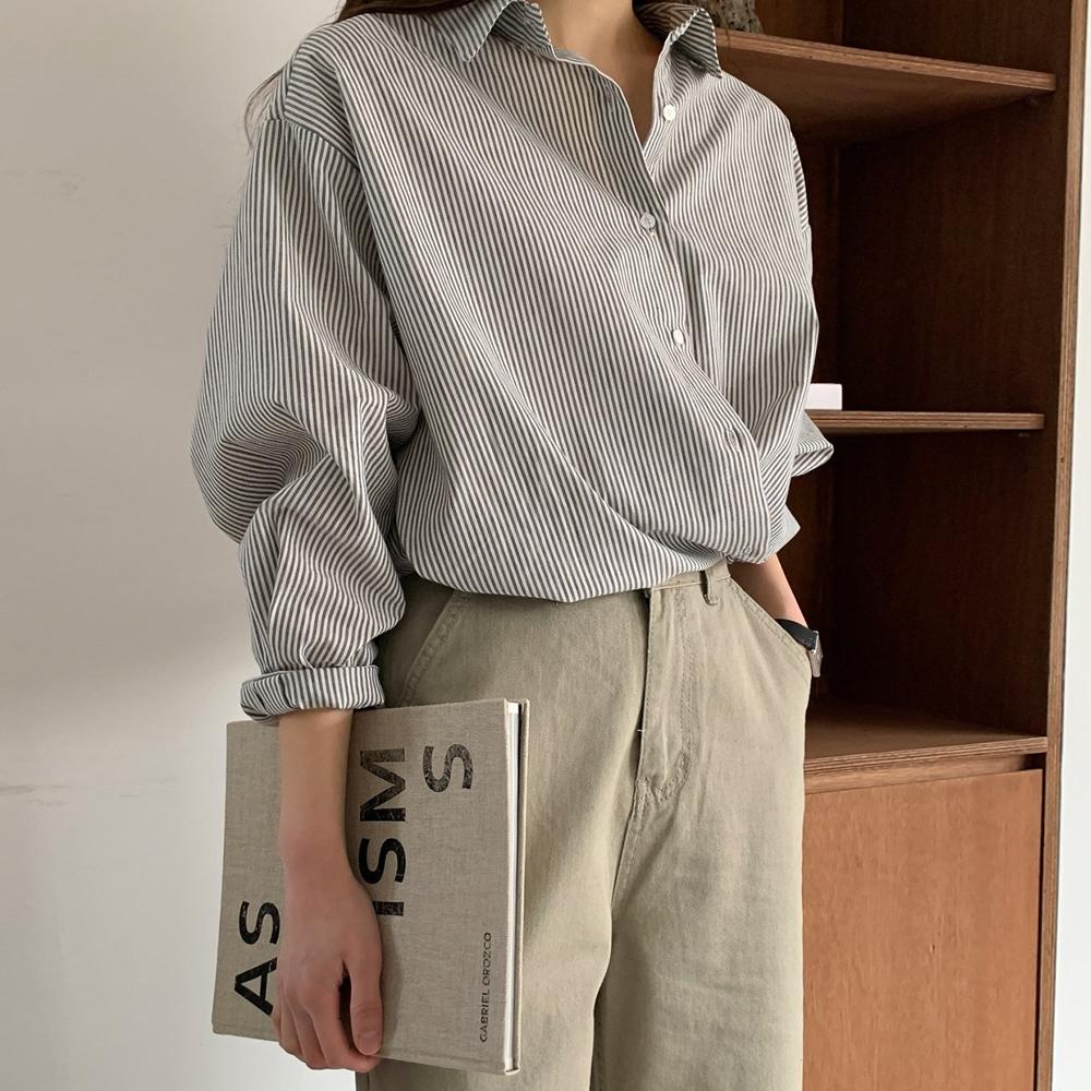 스트라이프 랩 셔츠 [무배.3color]