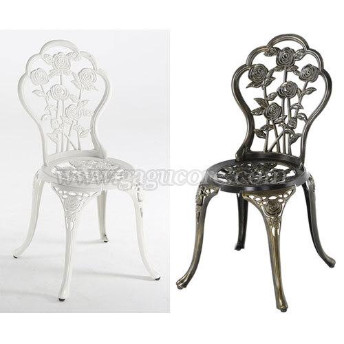 알루미늄주물체어(로즈)(업소용의자, 카페의자, 철재의자, 스틸체어, 인테리어의자, 레스토랑체어, 야외용체어, 아웃도어)