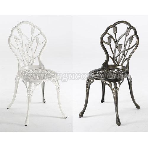알루미늄주물체어(튤립)(업소용의자, 카페의자, 철재의자, 스틸체어, 인테리어의자, 레스토랑체어, 야외용체어, 아웃도어)