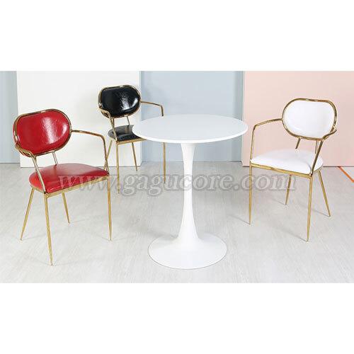 벤츠골드체어PU(업소용의자, 카페의자, 철재의자, 스틸체어, 인테리어의자, 레스토랑체어)