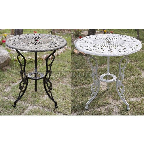 알루미늄주물테이블(로즈)(업소용테이블, 카페테이블, 야외테이블, 인테리어테이블, 아웃도어테이블)