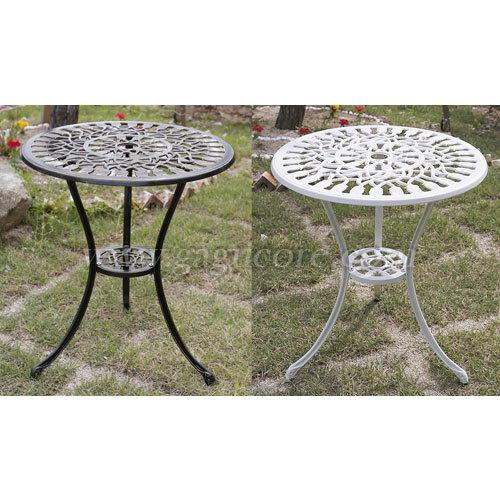 알루미늄주물테이블(튤립)(업소용테이블, 카페테이블, 야외테이블, 인테리어테이블, 아웃도어테이블)