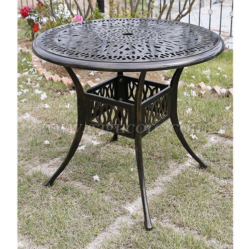 알루미늄주물탁자(900)(업소용테이블, 카페테이블, 야외테이블, 인테리어테이블, 아웃도어테이블)
