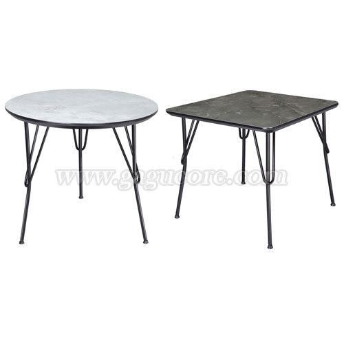 폴리카보네이트헤어핀테이블(사각, 원형)(업소용테이블, 카페테이블, 인테리어테이블, 레스토랑테이블, 원형테이블, 사각테이블)