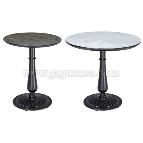 폴리카보네이트원형주물테이블(원형)(업소용테이블, 카페테이블, 인테리어테이블, 레스토랑테이블, 원형테이블)