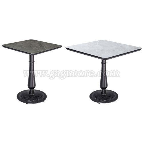 폴리카보네이트원형주물테이블(사각)(업소용테이블, 카페테이블, 인테리어테이블, 레스토랑테이블, 사각테이블)