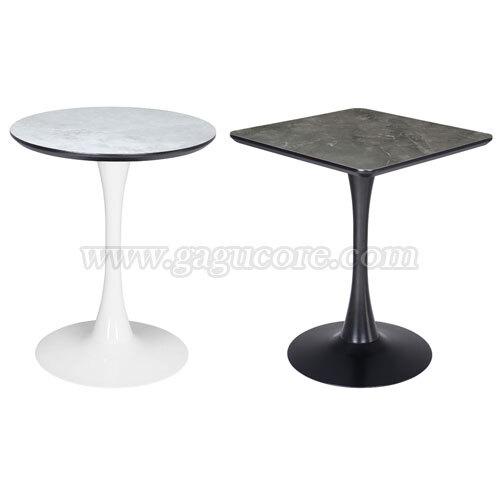 폴리카보네이트러브테이블(사각, 원형)(업소용테이블, 카페테이블, 인테리어테이블, 레스토랑테이블, 원형테이블, 사각테이블)